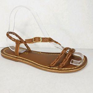 Bernardo  Leather Handcrafted Slingback Sandals